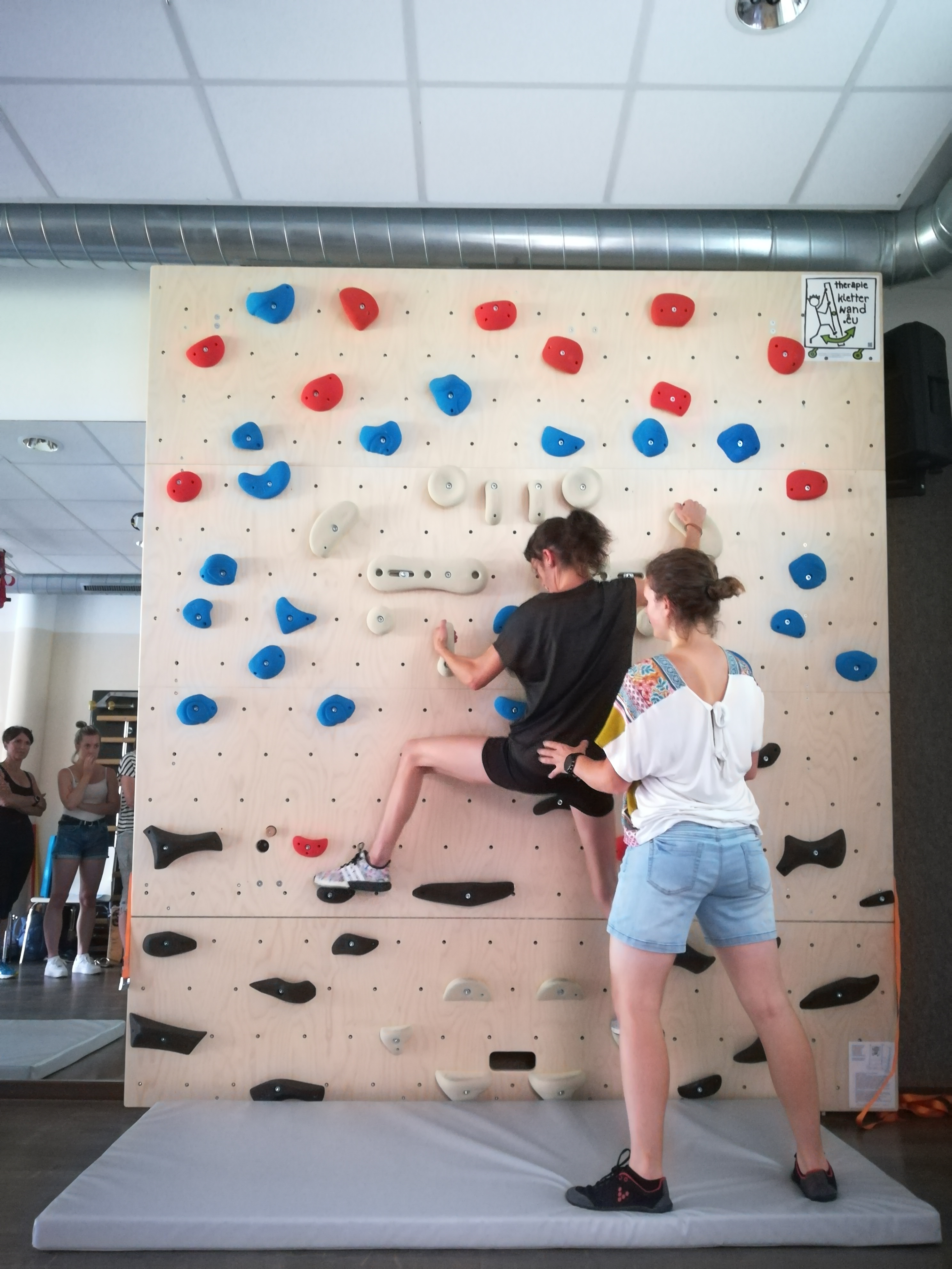 Einschulung Physios Boulderwand (2)