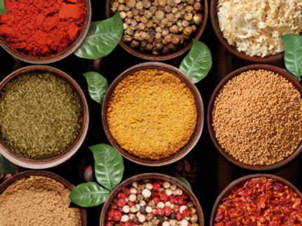 Especiarias, sabor, aroma, CONDIMENTOS, MIXES ESPECIARIAS, OLEOSESSENCIAIS, OLEOS RESINAS, SNACKS, PRATOS PRONTOS, CORTE