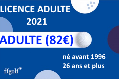 Licence Adulte 2021