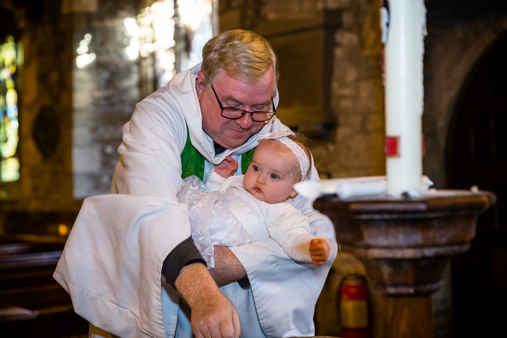 Christening at Gelligaer Church