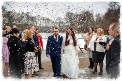 Photographing the Winter bride