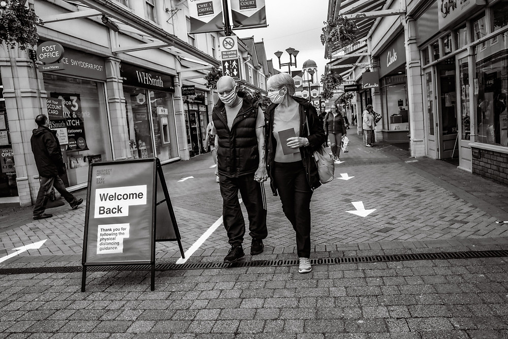 Caerphilly welcoming shoppers back after lockdown