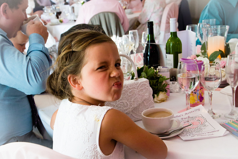 Child at a wedding in Vale Hotel near Cardiff
