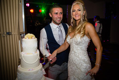 Photograph of the cake cutting