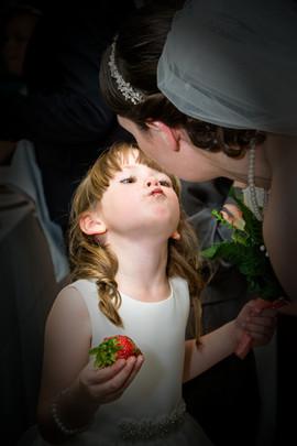Bridesmaid wants a kiss