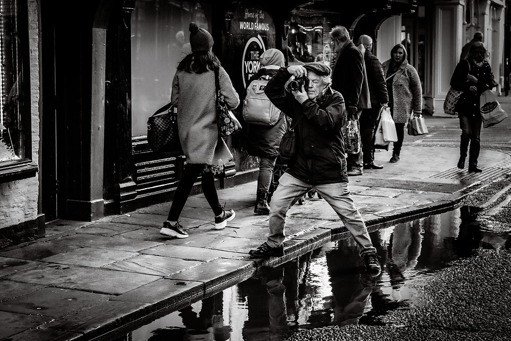 Street Photographer in Action.York