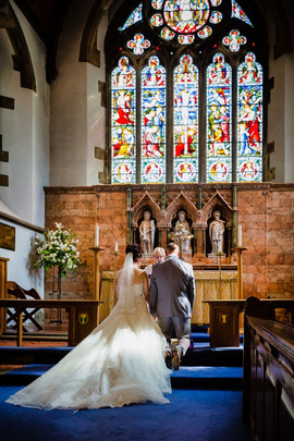 Wedding at St Martins Church Caerphilly