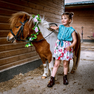 Family event at local pont stables