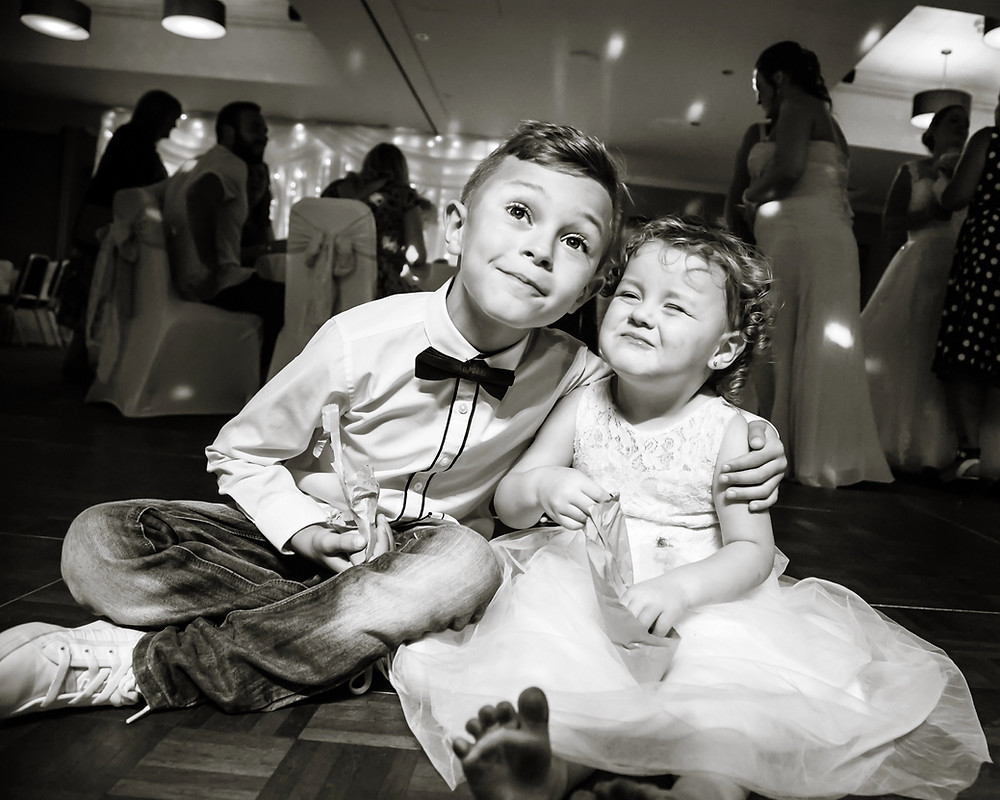 Wedding photographed at the village hotel Cardiff