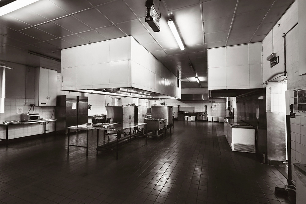 Kitchen area to make the hospital food