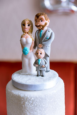 Wedding Cake toppers at Bargoed near Caerphilly South Wales