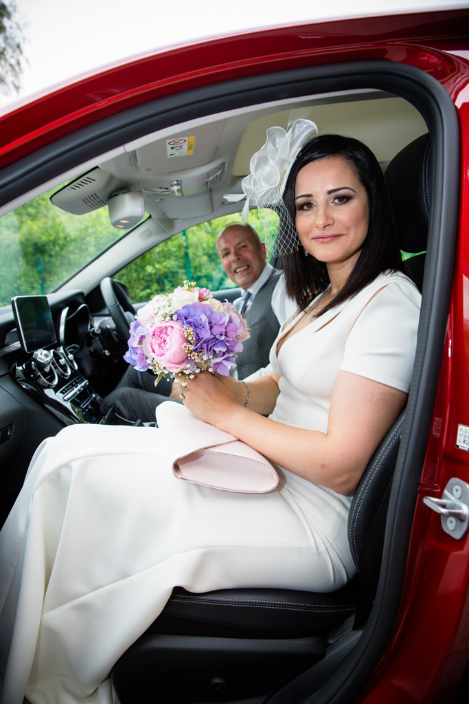 Lovely Bride arriving at Ystrad Mynach