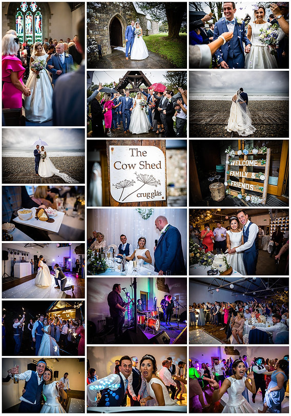 Wedding photographer the cow shed West Wales