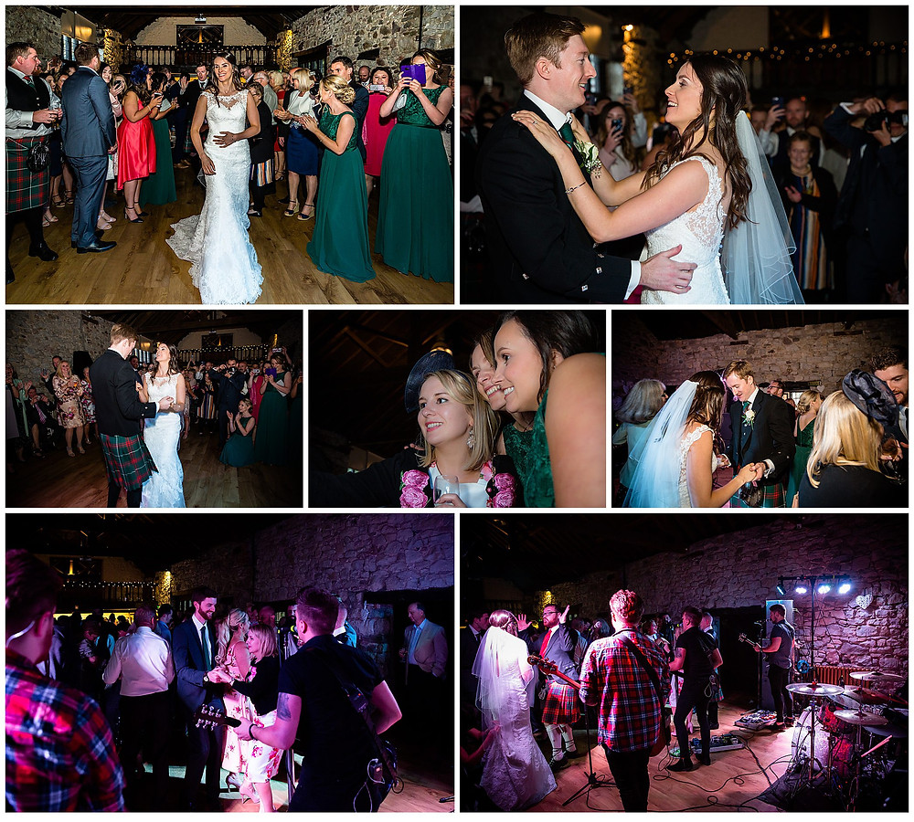 Wedding evening dance photograph