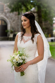Bride at Pencoed house