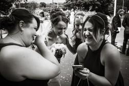 Bride having a laugh
