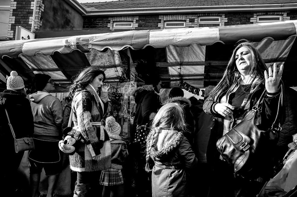 wedding documentary photographer - Street image in Ystrad Mynach