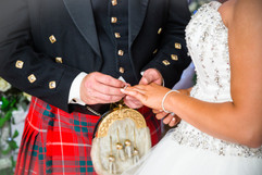 Exchange of rings at Llancaiach Fawr