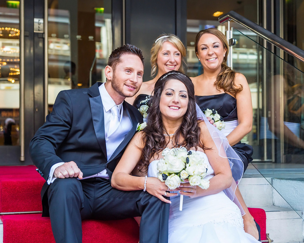 Wedding photographer at Park Plaza Cardiff