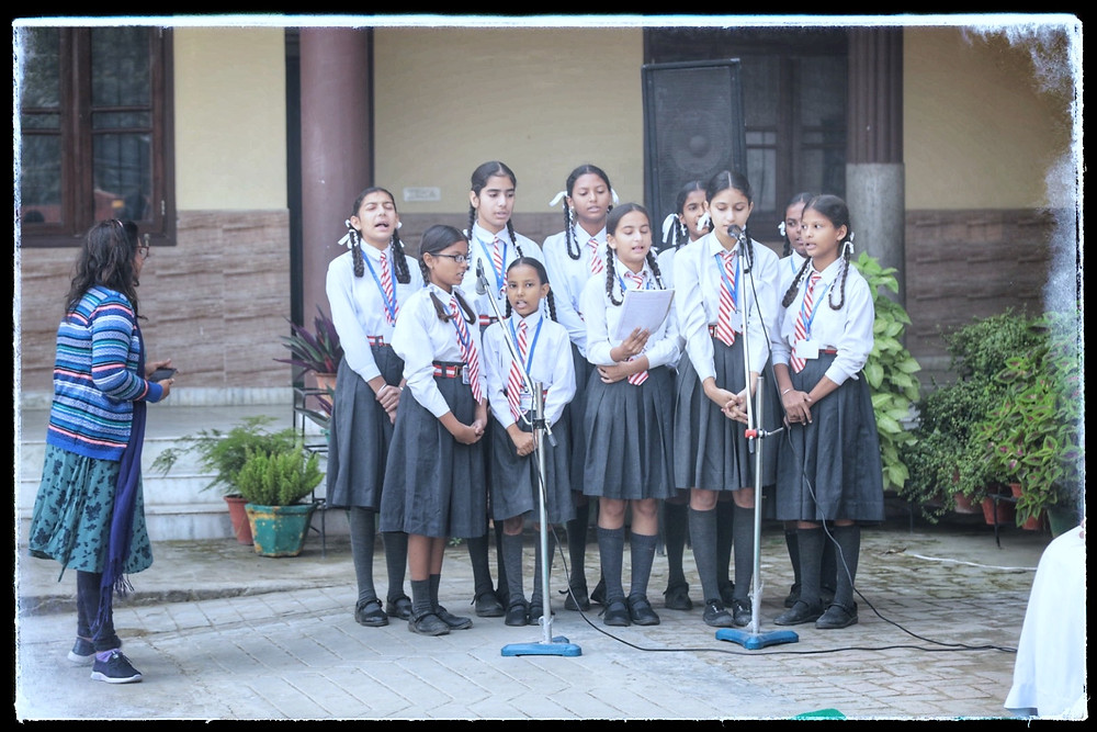 Children singing a song