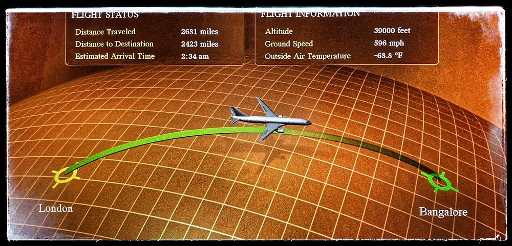Plane ride to India