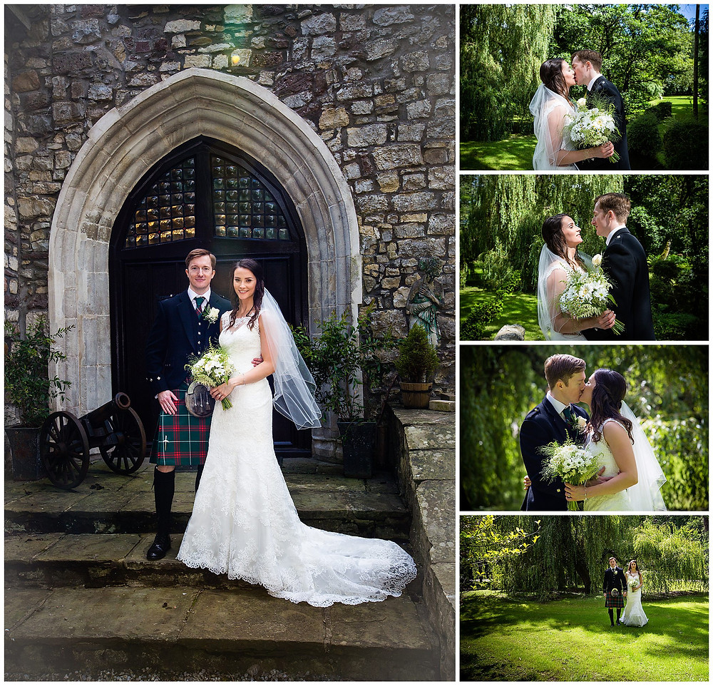 Some wedding day portraits in the lovely gardens of just the Bride and Groom.