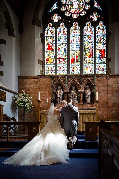 Wedding ceremony at Caerphilly
