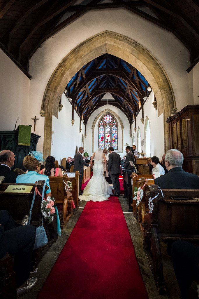 Wedding at Llanharan church Rhondda Cynon Taf