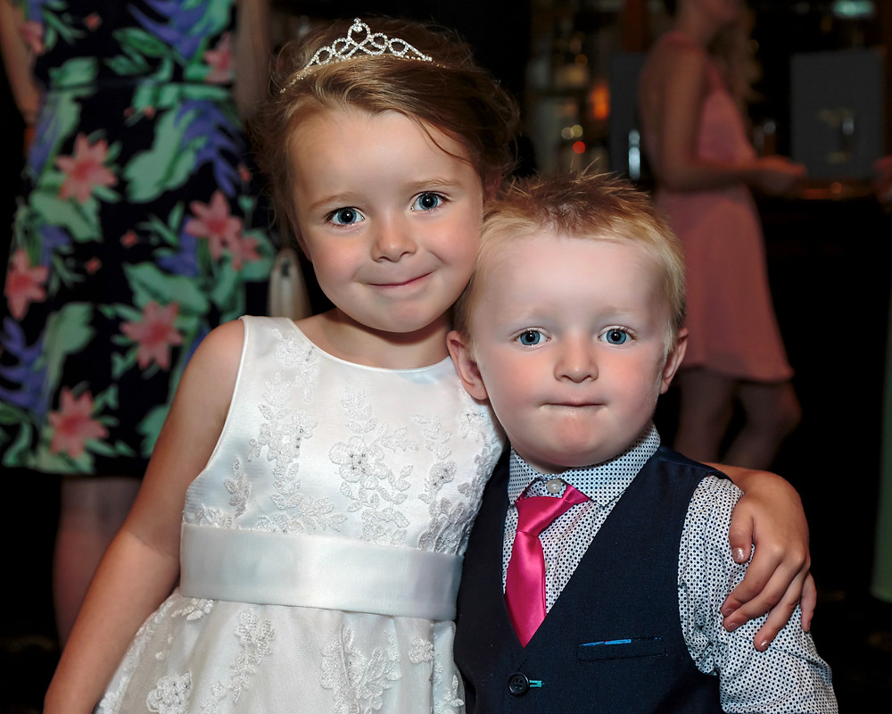 kids posing for a photograph in Blackwood Maes Manor Hotel