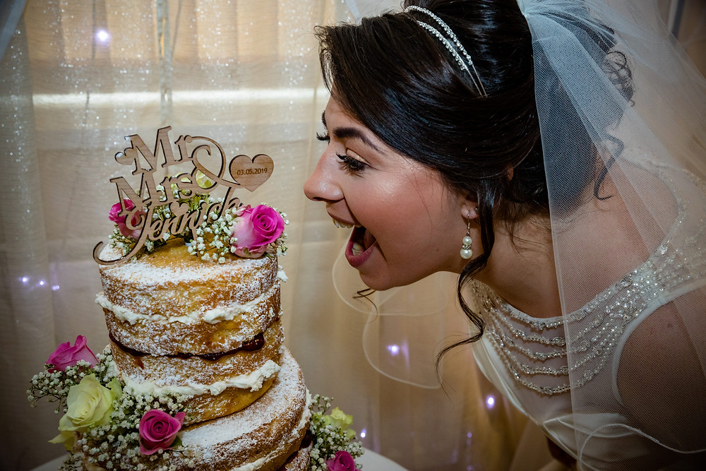 Don't forget to beak the wedding cake