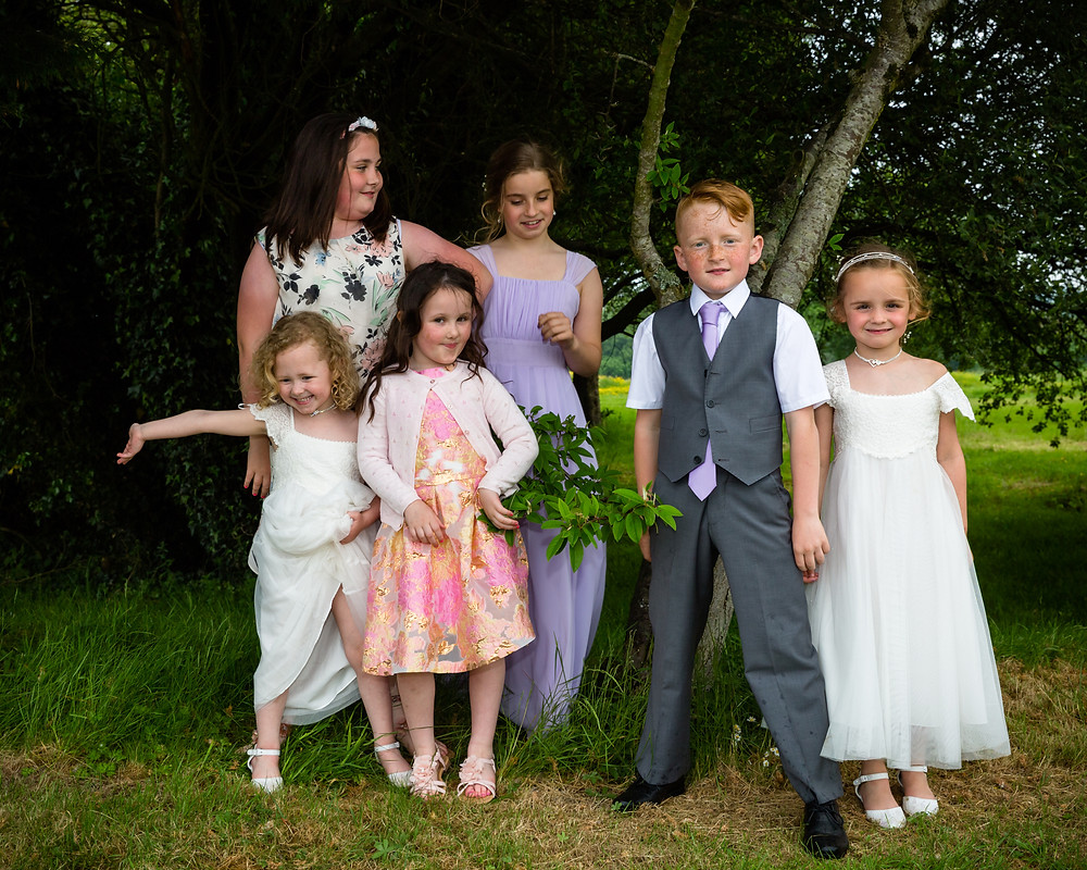 eco warriors at a wedding in Caerphilly