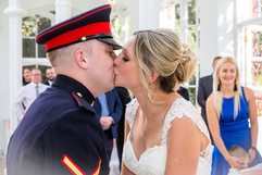 First kiss as married couple