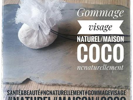 Gommage visage peau mature coco flocons d'avoine et HE de Bois d'Hô.