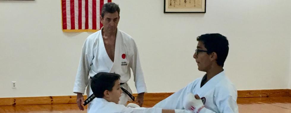 Isaac Lynne & Fabian Larrazabal sparring in advanced class