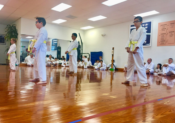Yellow belt rank testing