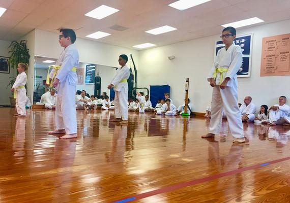 Yellow belt rank testing