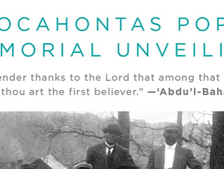 Press Release: Bahá'ís Unveil Grave Marker for the D.C.'s First African American Bahá'í