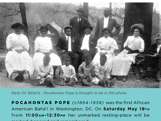 Honoring Pocahontas Pope