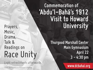 Commemoration of Abdu'l-Bahá's 1912 Visit to Howard University's Rankin Chapel - April 2
