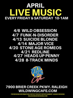 WILD WING CAFE APRIL