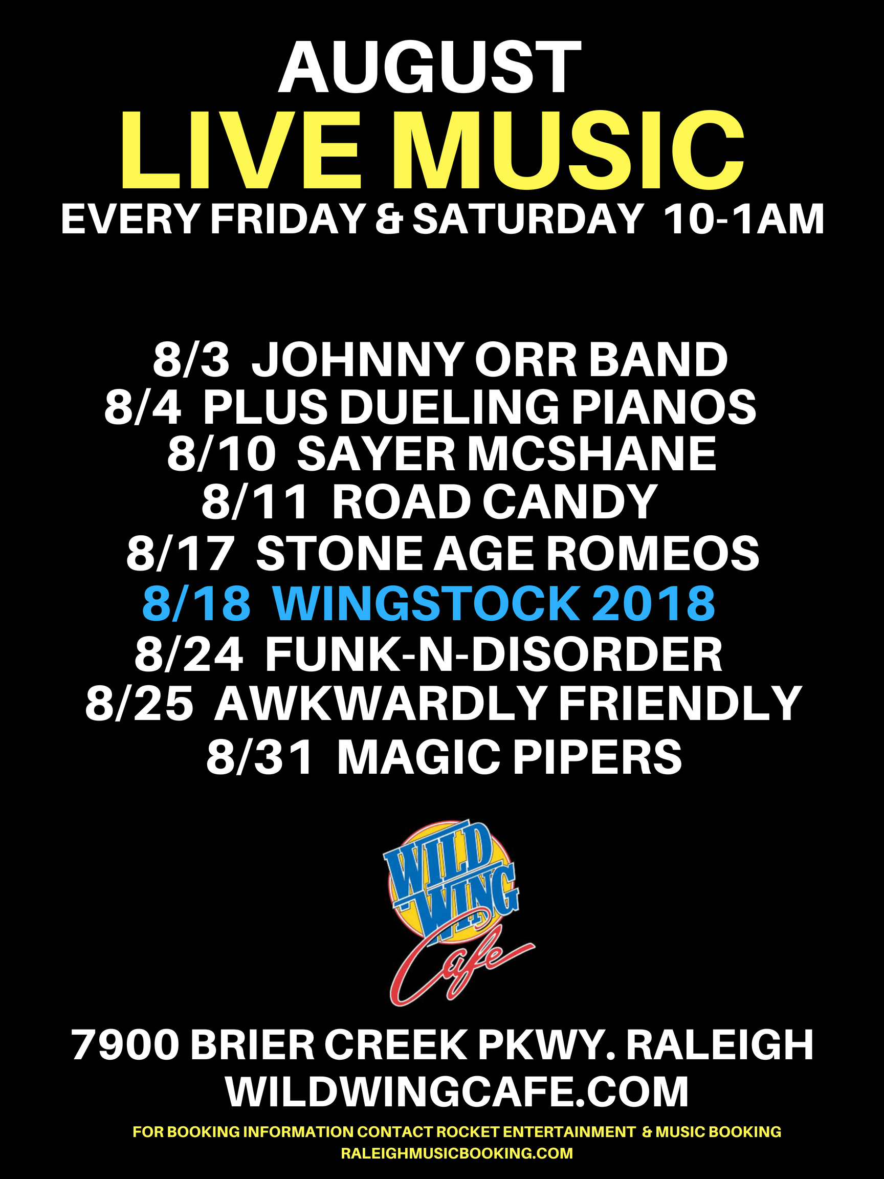 WILD WING CAFE AUGUST