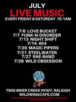 WILD WING CAFE JULY