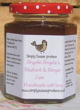 Angelic Angela Rhubarb & Ginger Jam