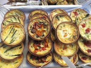 Roasted Mediterranean vegetable tart