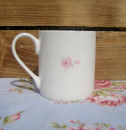 Rose china mug
