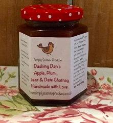 Dashing Dan's apple plum & date Chutney