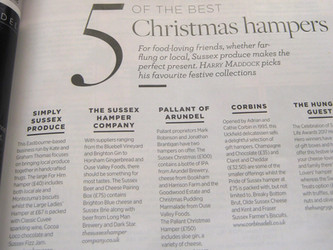 Sussex Life November Edition Top 5 Hamper companies in Sussex