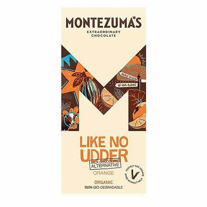 Montezuma Milk Free chocolate with orange