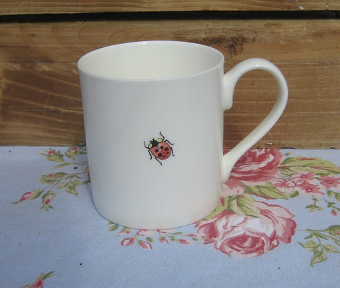 Ladybird china mug