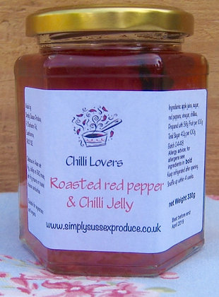Chilli Lovers roasted red pepper & chilli Jelly